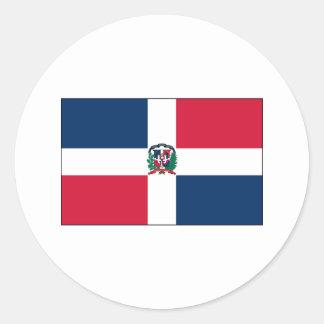 Dominican Republic FLAG International Round Sticker