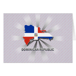 Dominican Republic Flag Map 2.0 Greeting Card