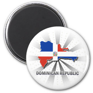 Dominican Republic Flag Map 2.0 Magnet