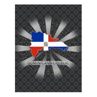 Dominican Republic Flag Map 2.0 Post Card