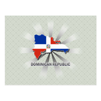 Dominican Republic Flag Map 2.0 Postcard