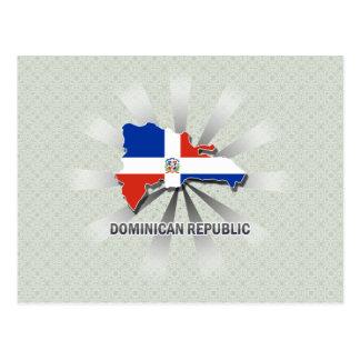 Dominican Republic Flag Map 2 0 Postcards
