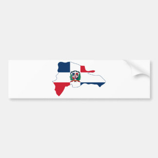 Dominican Republic Flag Map DO Bumper Sticker