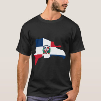 Dominican Republic Flag Map DO T-Shirt