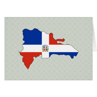 Dominican Republic Flag Map full size Greeting Card