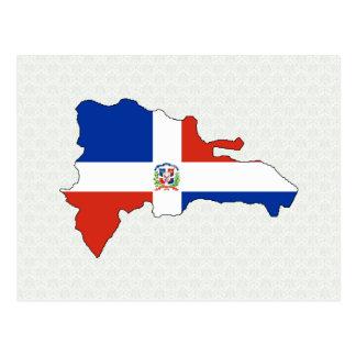 Dominican Republic Flag Map full size Postcard