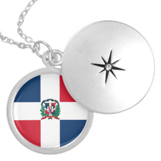 Dominican Republic Flag Necklace