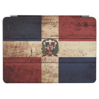 Dominican Republic Flag on Old Wood Grain iPad Air Cover
