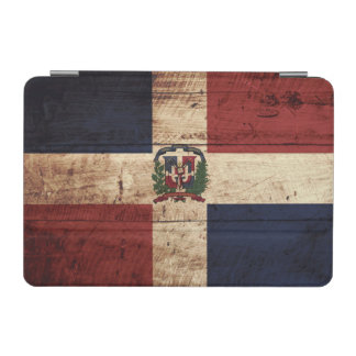 Dominican Republic Flag on Old Wood Grain iPad Mini Cover