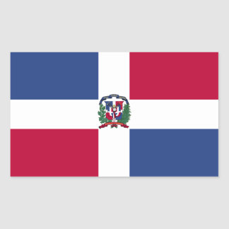 Dominican Republic Flag Rectangular Sticker
