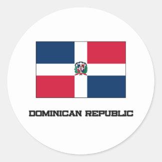 Dominican Republic Flag Round Sticker