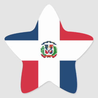 Dominican Republic Flag Star Sticker