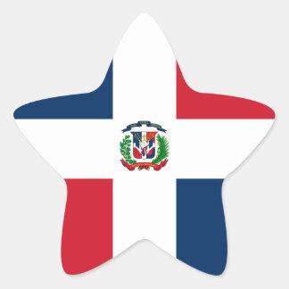 Dominican Republic Flag Star Sticker