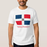 Dominican Republic Flag with Name in Spanish Tees