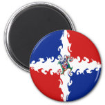 Dominican Republic Gnarly Flag Fridge Magnet