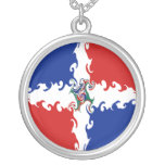 Dominican Republic Gnarly Flag Personalised Necklace
