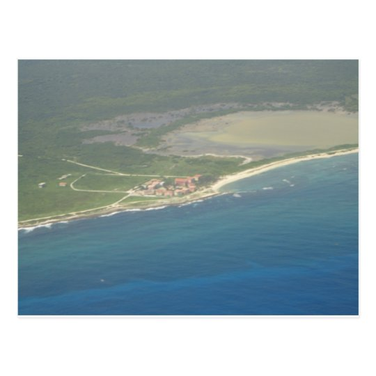 Dominican Republic Hispanola Aerial View Postcard