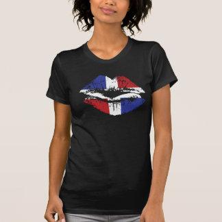 Dominican Republic lips T-shirt design for women.
