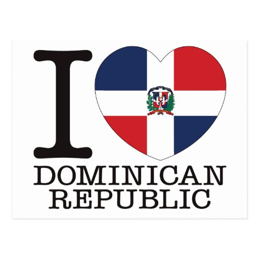 Dominican Republic Love v2 Post Cards