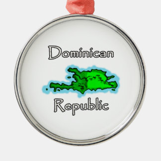 Dominican Republic Map Christmas Ornament