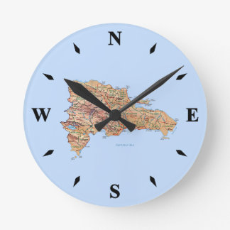 Dominican Republic Map Clock