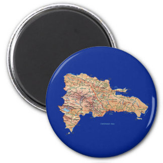 Dominican Republic Map Magnet