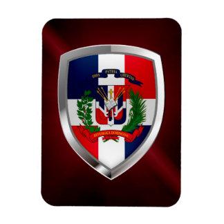 Dominican Republic Mettalic Emblem Magnet