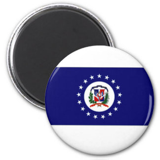 Dominican Republic Naval Jack 6 Cm Round Magnet