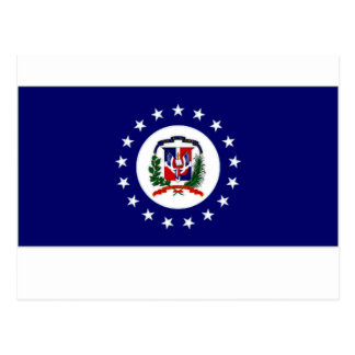 Dominican Republic Naval Jack Postcard
