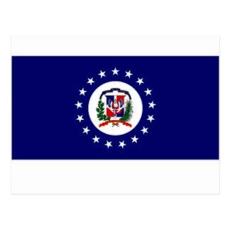 Dominican Republic Naval Jack Postcard