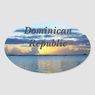 Dominican Republic Oval Sticker