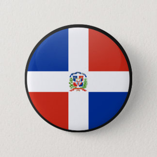 Dominican Republic quality Flag Circle 6 Cm Round Badge