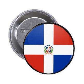 Dominican Republic quality Flag Circle 6 Cm Round Badge