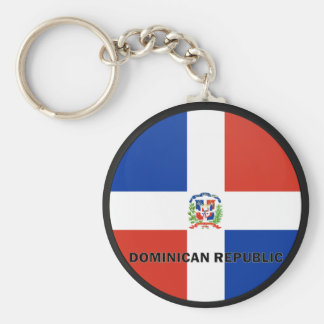 Dominican Republic Roundel quality Flag Basic Round Button Key Ring