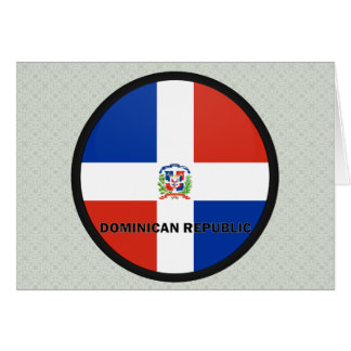 Dominican Republic Roundel quality Flag Greeting Card