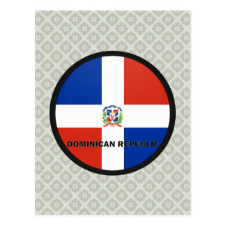 Dominican Republic Roundel quality Flag Postcards