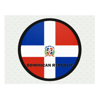 Dominican Republic Roundel quality Flag Postcard