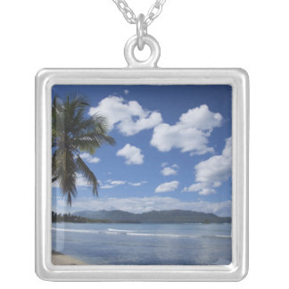 Dominican Republic, Samana Peninsula, Las 4 Silver Plated Necklace