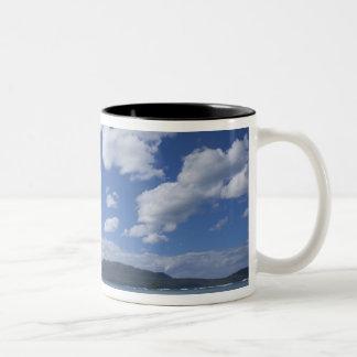 Dominican Republic, Samana Peninsula, Las 4 Two-Tone Coffee Mug