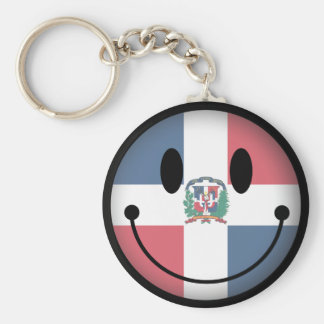 Dominican Republic Smiley Basic Round Button Key Ring