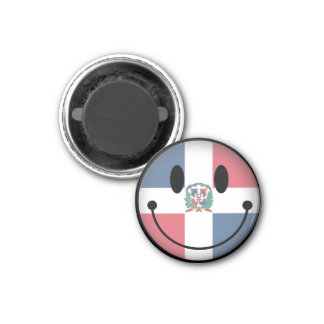 Dominican Republic Smiley Magnet