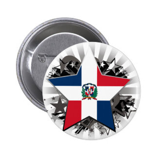 Dominican Republic Star Pinback Buttons
