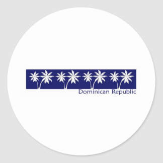 Dominican Republic Round Stickers