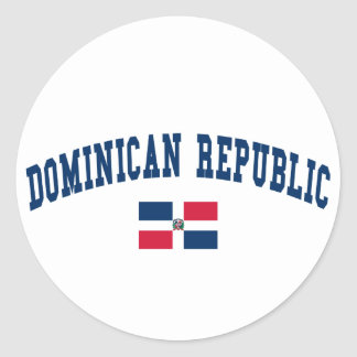 Dominican Republic Style Round Sticker