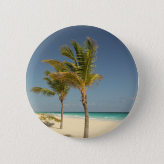 Dominican Republic Tropical Beach 6 Cm Round Badge