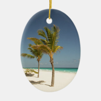 Dominican Republic Tropical Beach Christmas Ornament