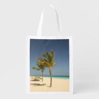 Dominican Republic Tropical Beach Reusable Grocery Bag