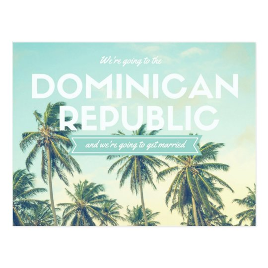Dominican Republic Tropical Beach Save the Dates Postcard