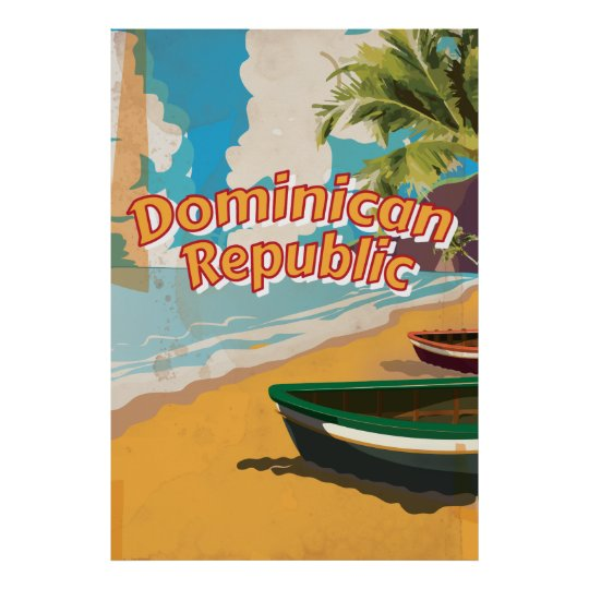 Dominican Republic Vintage vacation Poster