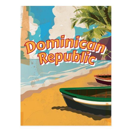 Dominican Republic Vintage vacation Poster Postcard